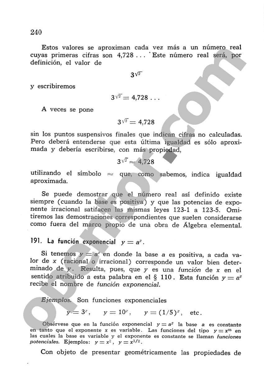 Álgebra de Mancil 2 - Página 240