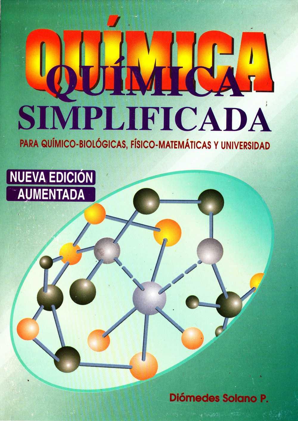 Química Simplificada de Diómedes Solano - Portada