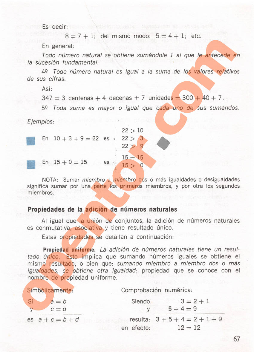 Aritmética de Repetto 1 - Página 67