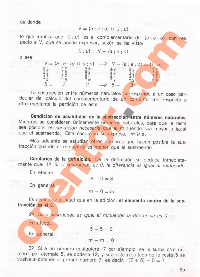 Aritmética de Repetto 1 - Página 85