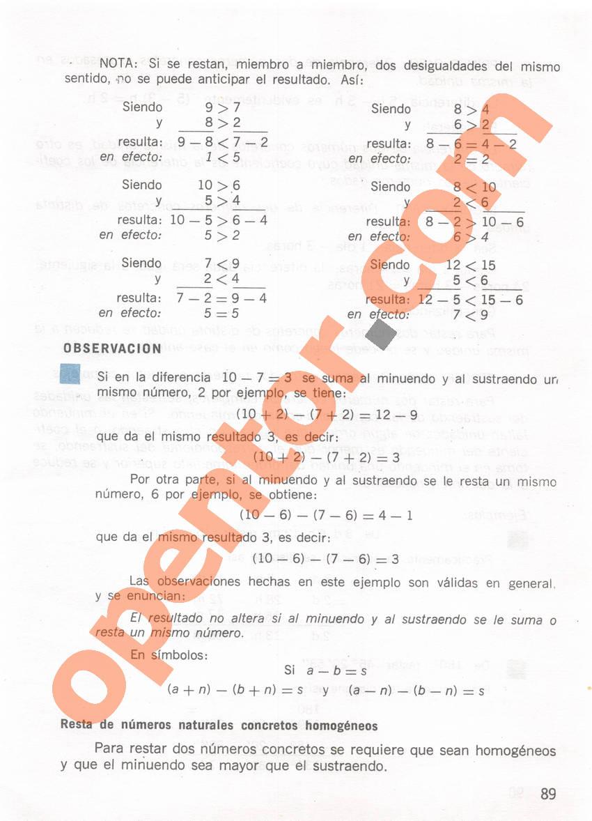 Aritmética de Repetto 1 - Página 89