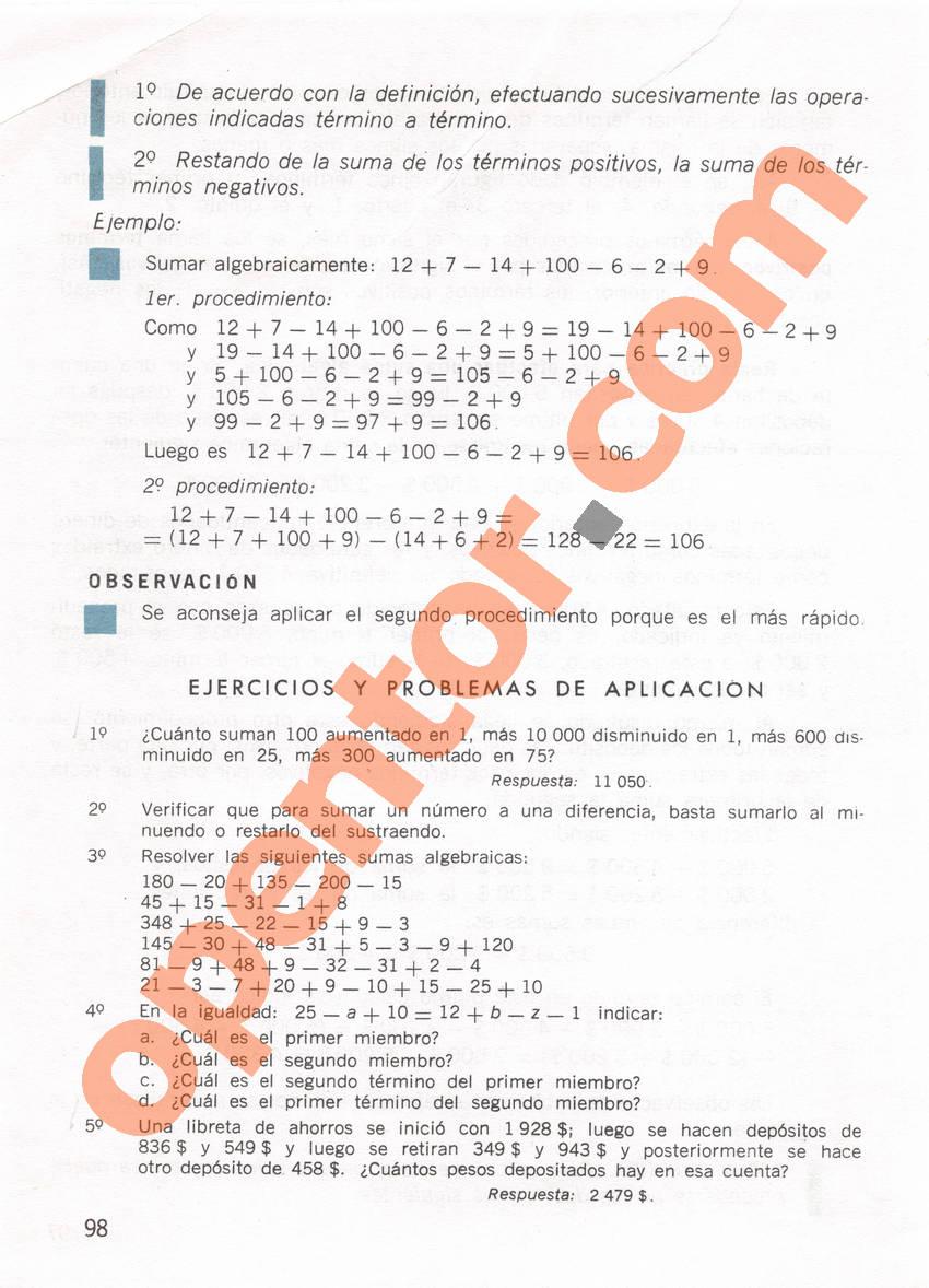 Aritmética de Repetto 1 - Página 98