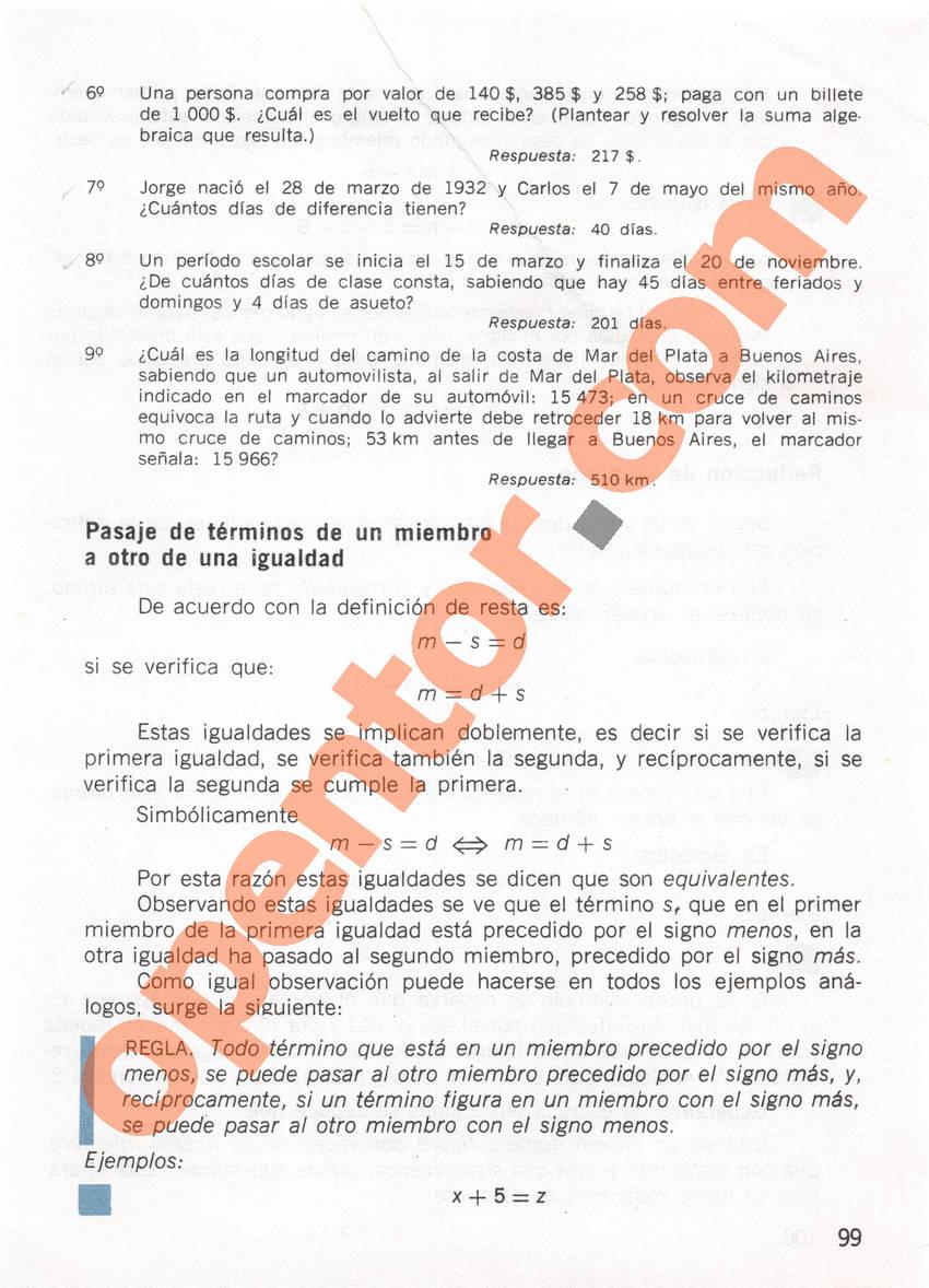 Aritmética de Repetto 1 - Página 99