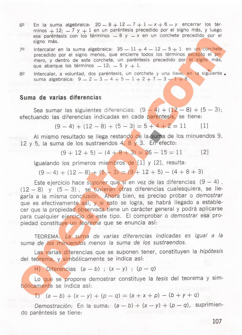 Aritmética de Repetto 1 - Página 107