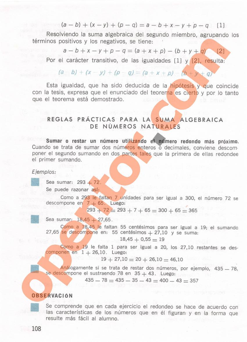 Aritmética de Repetto 1 - Página 108