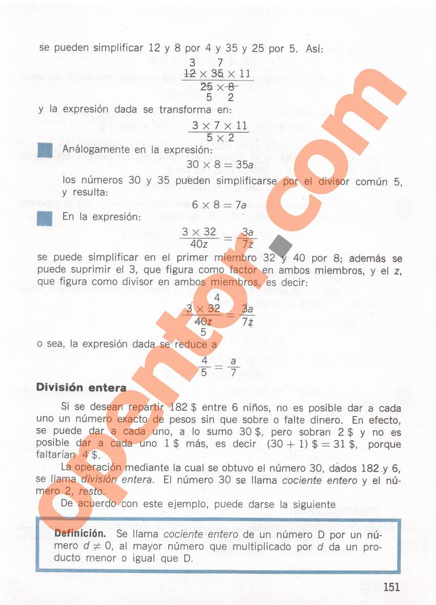 Aritmética de Repetto 1 - Página 151
