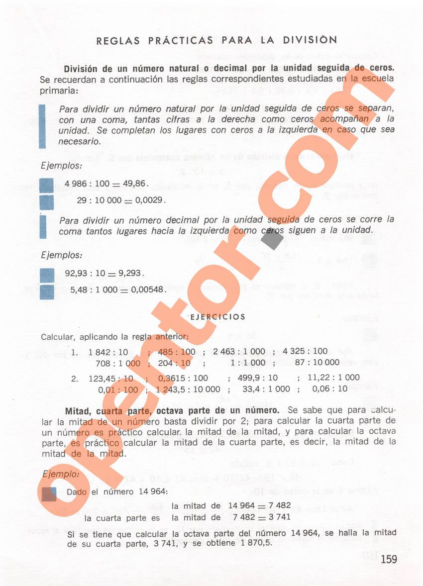 Aritmética de Repetto 1 - Página 159