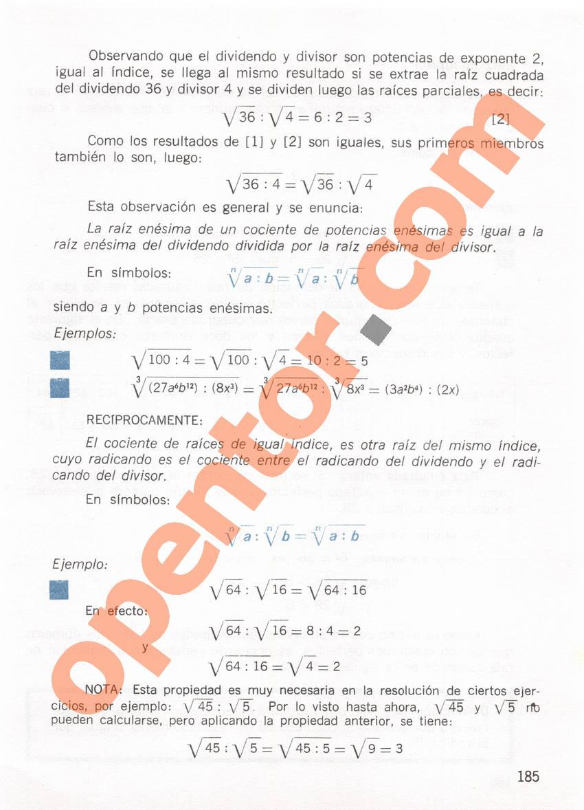 Aritmética de Repetto 1 - Página 185