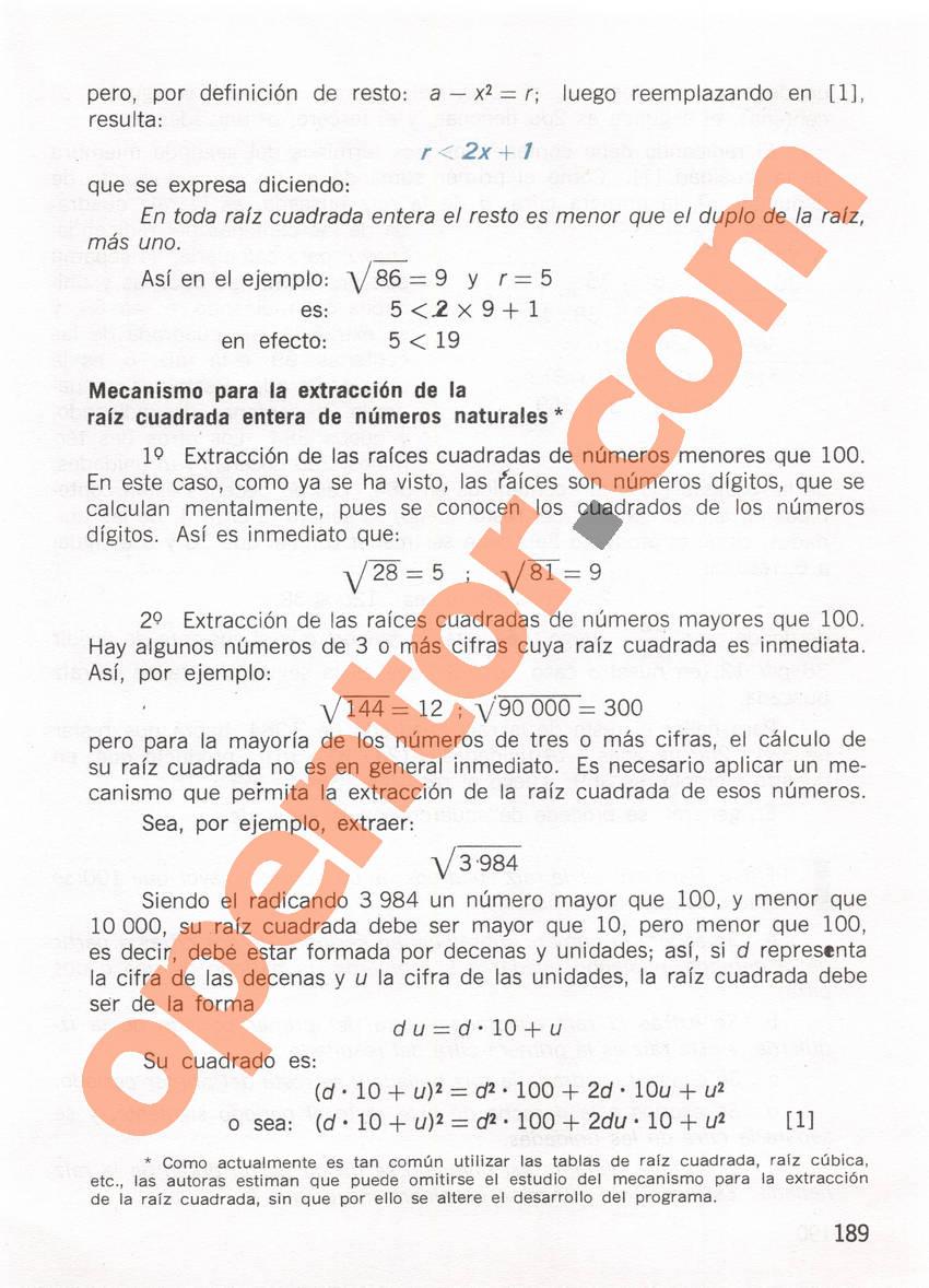 Aritmética de Repetto 1 - Página 189