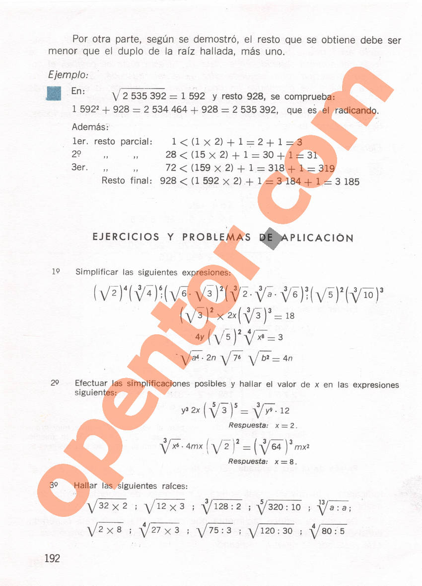 Aritmética de Repetto 1 - Página 192