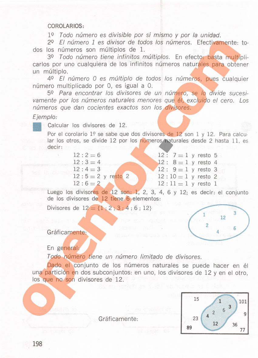 Aritmética de Repetto 1 - Página 198
