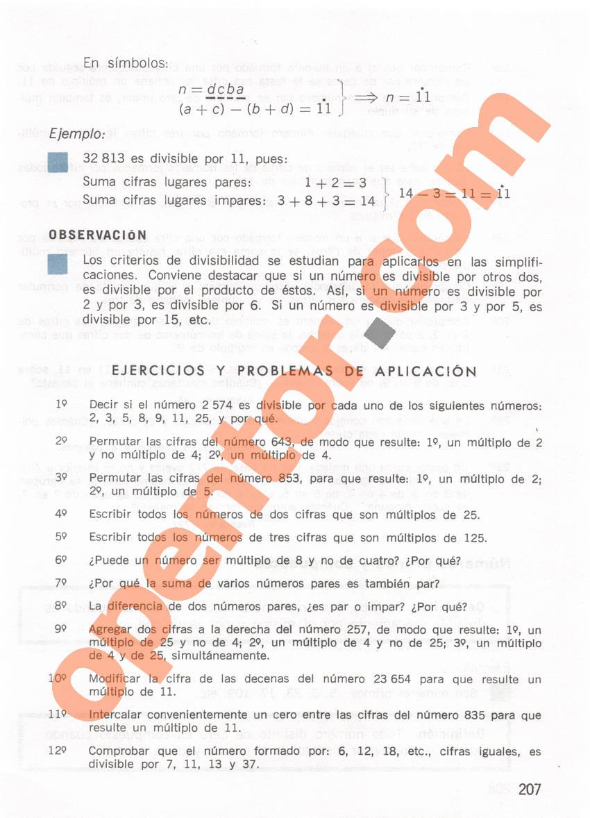 Aritmética de Repetto 1 - Página 207