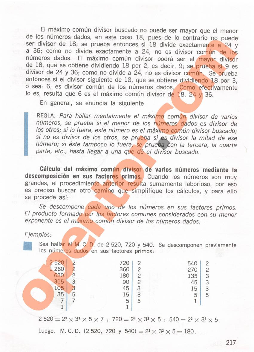 Aritmética de Repetto 1 - Página 217