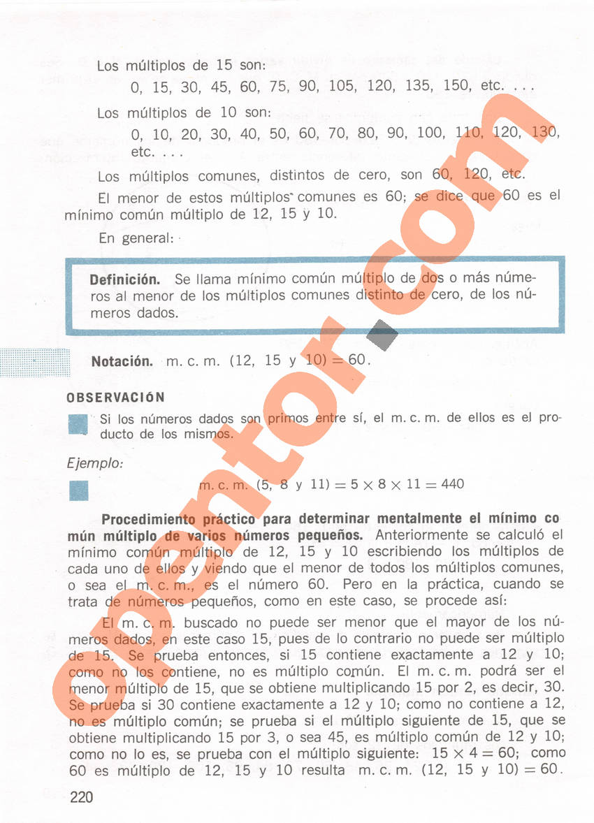 Aritmética de Repetto 1 - Página 220