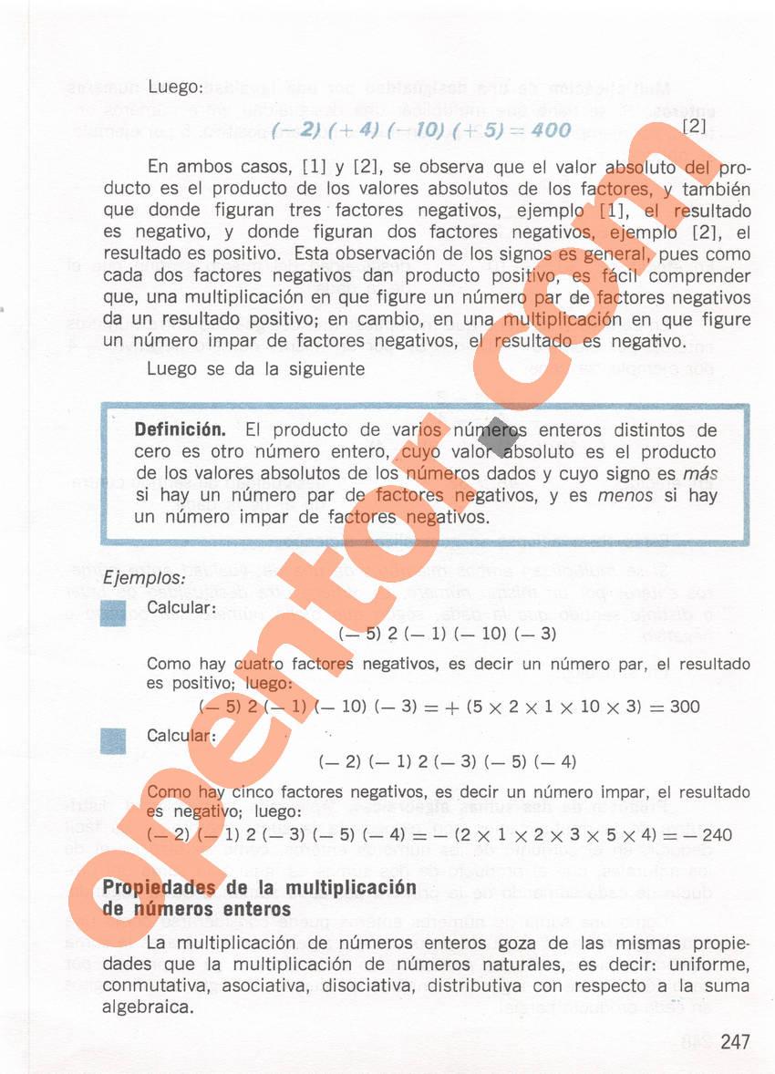 Aritmética de Repetto 1 - Página 247