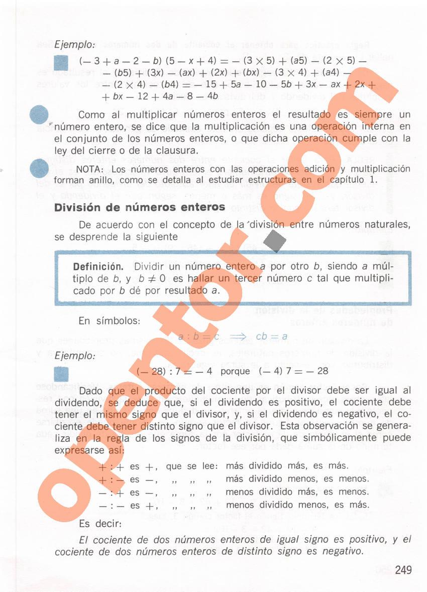 Aritmética de Repetto 1 - Página 249