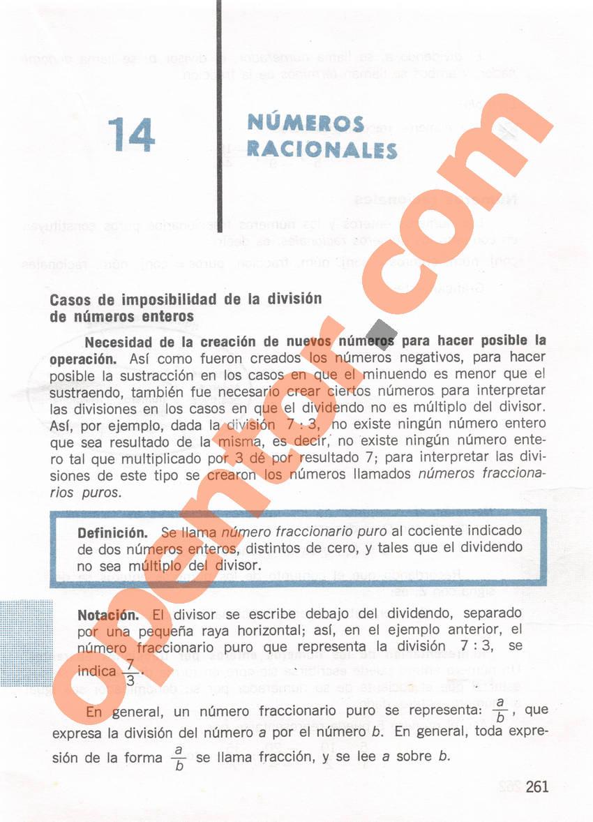 Aritmética de Repetto 1 - Página 261