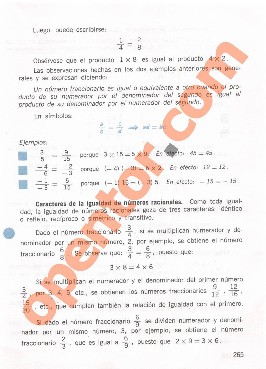 Aritmética de Repetto 1 - Página 265