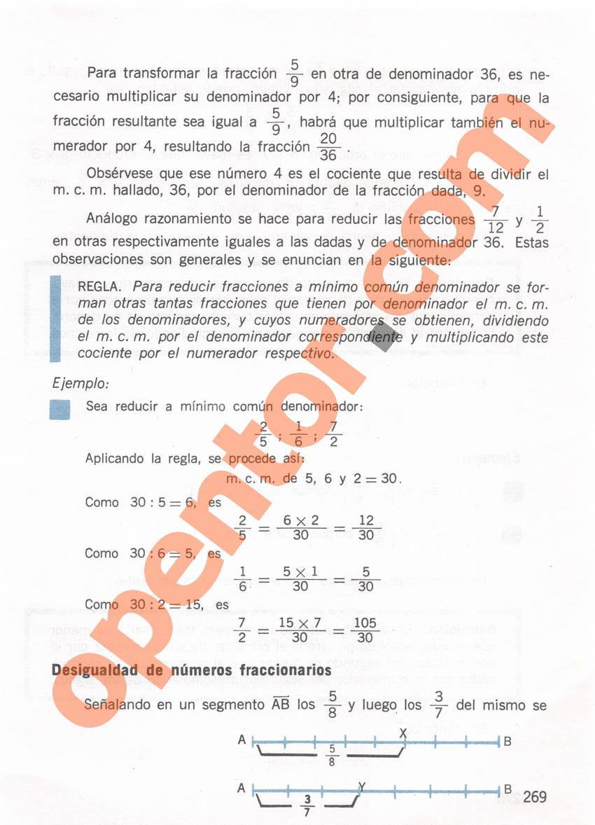 Aritmética de Repetto 1 - Página 269