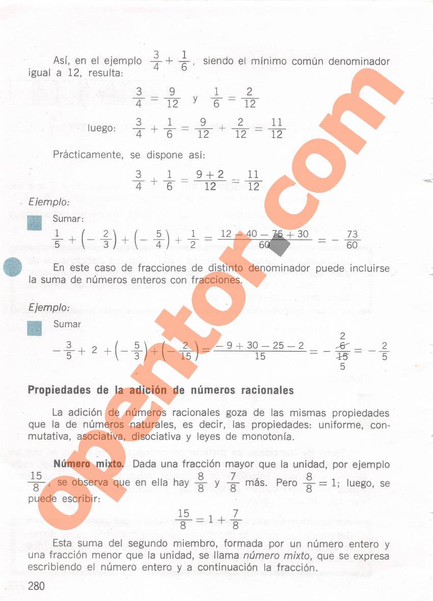 Aritmética de Repetto 1 - Página 280