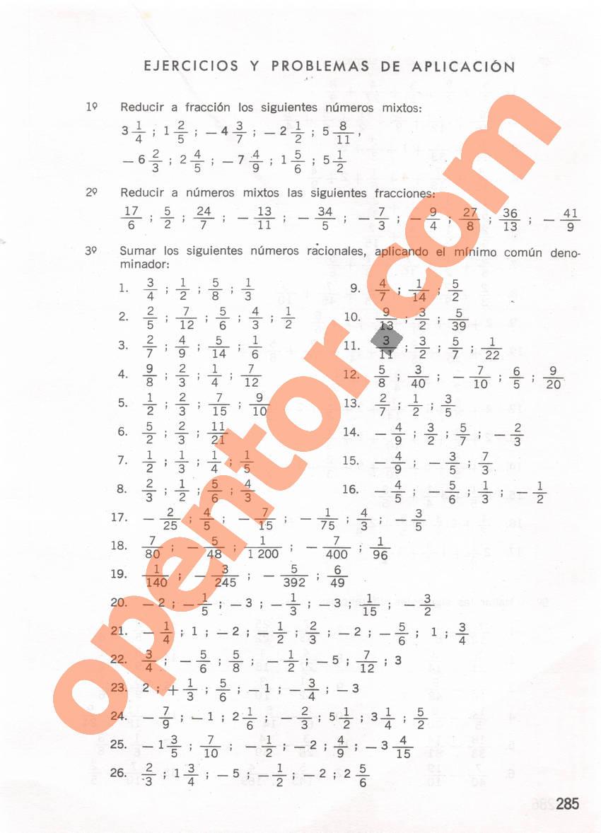 Aritmética de Repetto 1 - Página 285