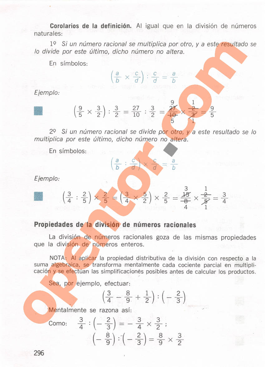 Aritmética de Repetto 1 - Página 296