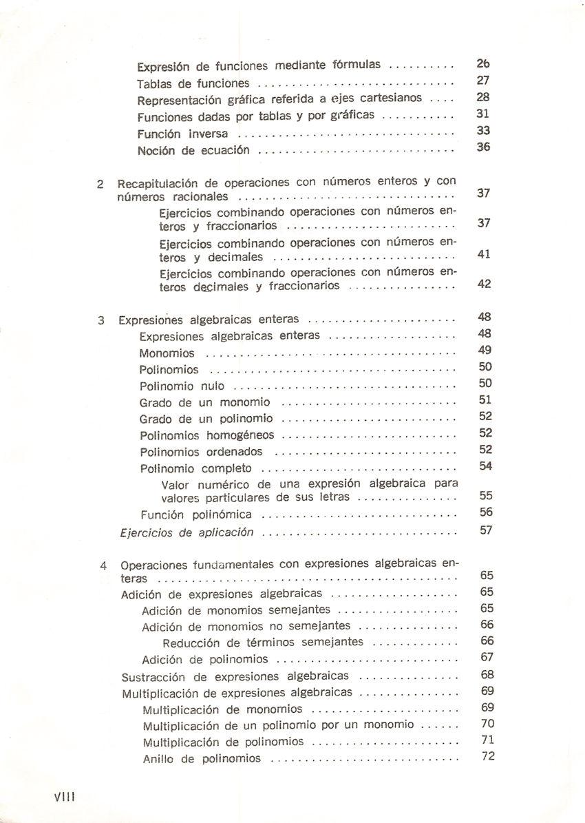 Aritmética de Repetto 3 - Índice de contenidos